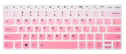 Keyboard Cover Skins Compatible with Lenovo Yoga C940 C930 920 13.9' & Lenovo Flex 14 14' & Yoga 730 720 720S 13.3' & Yoga 720 12.5' & 14' Yoga C740 & Ideapad 720s 13' 14'(Ombre Pink)