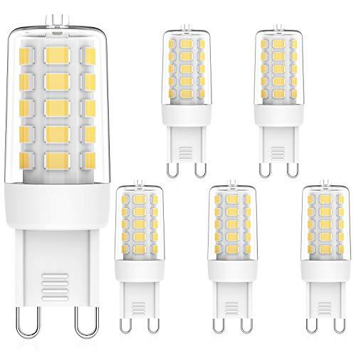 MLlichten Bombillas LED G9 Regulable 4000K Blanco Natural, 3W Equivalente 20W 30W Halógeno, Sin Parpadeo G9 LED Bombillas, AC220-240V G9 Lámpara LED , Ángulo de Luz de 360°, Paquete de 5