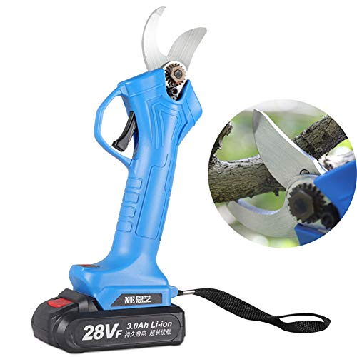 Lowest Price! Cordless Anti-Cut Safety Electric Pruning Shears Li-Ion Battery Tree Branch Pruner Rec...