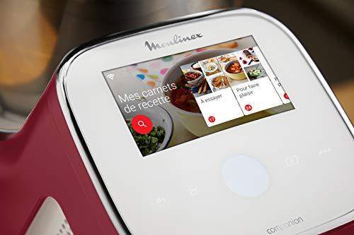 Moulinex I-Companion Touch XL Robot Cuisine Multifonction 1550 W Cuiseur Ecran Tactile Capacité 4,5L 10 Personnes 14 Programmes Couteau Hachoir Pétrin/Concasseur Fouet Mélangeur Panier Vapeur HF934510