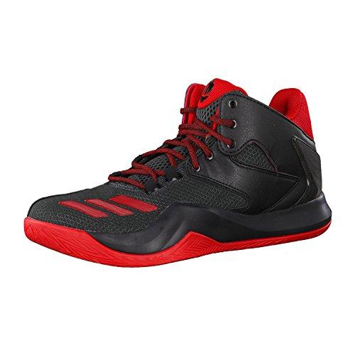 adidas Herren D Rose 773 V Basketballschuhe, Black (Negbas/Scarlet/Griosc), 48 2/3 EU