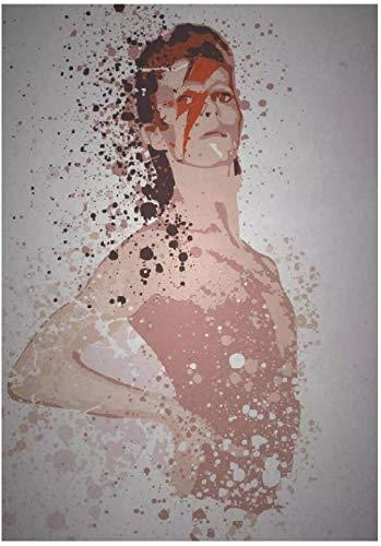 Ziggy Stardust Music Legen Canvas Painting Art Print Poster Picture Wall Modern Minimalist Bedroom Living Room Decor 50x70cm No frame