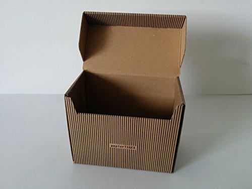 4 Papiertiger Karteikasten A5 Karton Streifendesign swbr faltbar passend für bis zu 300 Karteikarten