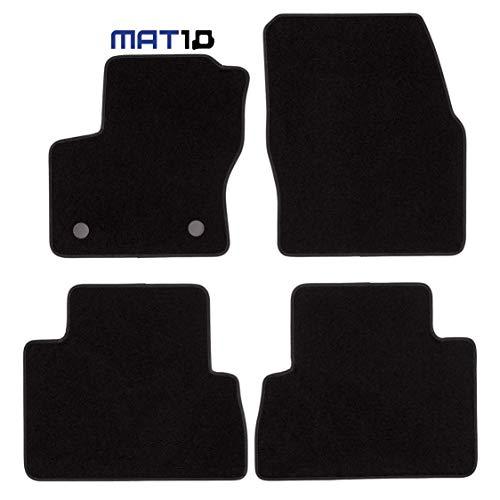 MAT10 000145SV001 – Ford Black Line: Ford C-MAX II Compactvan año de construcción 2010 – 04 – 2015 – 05 Auto Alfombras Coche Dilour Aguja Fieltro 4 Piezas Negro