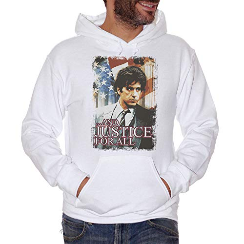 Sweatshirt Justice for All Movie Al Pacino - Film Choose ur Color - Damen-S-Weiß