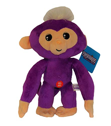 WowWee Fingerlings knuffel aap met geluid 28 cm verschillende karakters voor kinderen (Mia (paars))