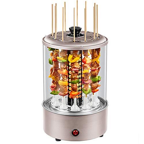 Électrique Rotatif Vertical Rôtisserie Grill 1100 W BBQ Cuisine Kebab Poulet Cuisson Légumes Barbecue Ustensiles De Cuisine Machine Brochette Cuiseur Convient pour 3-6 Personnes