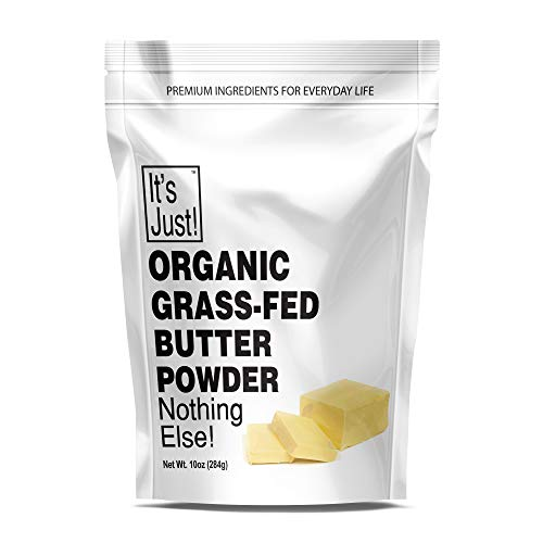 It's Just - Organic Butter Powder, Real Butter, Grass-Fed, Non-GMO, Made In USA, Keto Friendly, Shelf Stable (10oz)