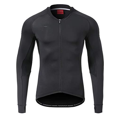 Santic Men's Long Sleeve Bicycle Cycling Jersey Pockets Full Zipper Bike Biking Shirts