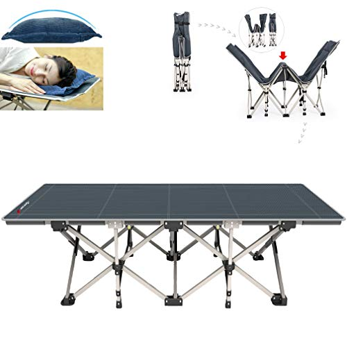 FLAMROSE Patented Camping Cots Sturdy Folding Outdoor Cot.
