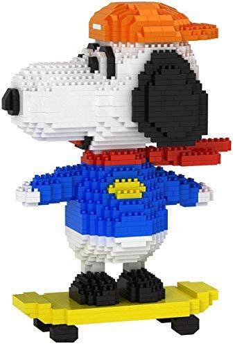 ZT Bloques de construcción, Skateboard Puppy Building Blocks Nano Micro Blocks 3D Puzzle DIY juguetes Modelo de juguete de ladrillo, Nano-Mini Bloques de construcción DIY Juguetes, Adecuado for niños,