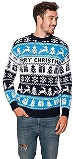 New Camp Ltd Christmas Xmas 2019 Mens Jumper Novelty Fairisle Santa Party Sweater Jumper Womens Unisex Merry Xmas Nordic E...