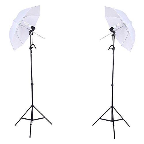 Professionele Fotografie Photo Lighting kit set met 45W 5500K Daglicht Studio Lampen Lichtstatieven Zwart Wit Groen geweven Fotografie & grafische vormgeving (Size : Uk)