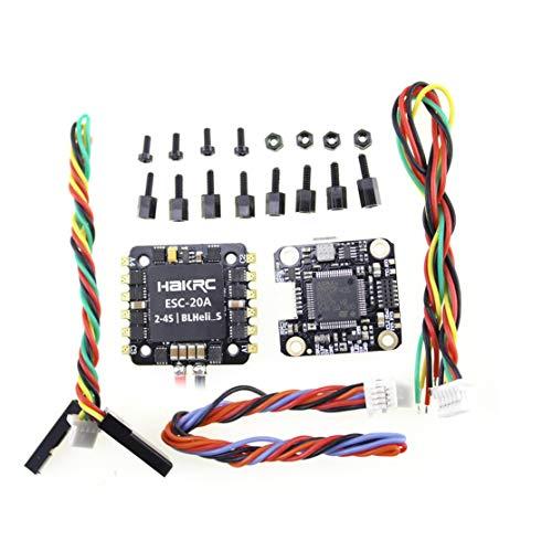 LouiseEvel215 Controlador de Vuelo Mini F4 Flytower OSD Integrado 4 en 1 BLHeli 20A ESC Salida incorporada de 5V 2A BEC para FPV RC Drone