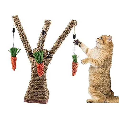 YAMMY Haustier Kletterbaum Spielzeug Katze Rattan Gras Kratzbaum Hase Spaß Baum Kaninchen Spielzeug Kleintier Klettergerüst Aktivität Ce (Kratzbaum)