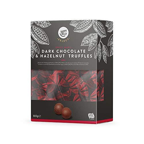 Marca Amazon - Happy Belly Select Bombones de chocolate negro y avellanas 1x665g