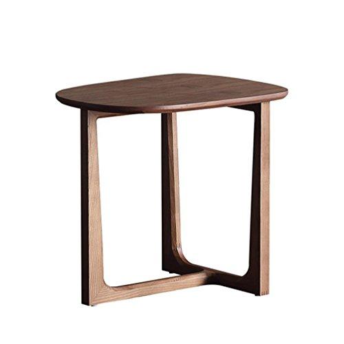 HTDZDX Mesa de centro de madera, mesita de noche redonda, mesa auxiliar de sofá, mesa de comedor pequeña, 52 41 48 cm