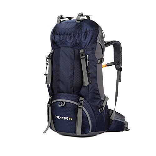 CXJC Sac à Dos De Randonnée Pédestre Nylon Water Resistang Randonnée Camping Travel Alpinisme pour Les Voyages Trekking Voyage Sac à Dos,Blue