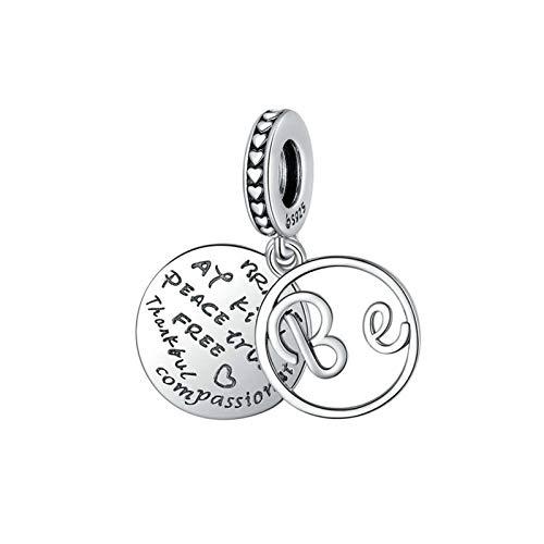 GaLon Beads Charms, S925 Sterling Silver DIY DIY Mejores Mejores Mejores Hecho a Mano Moda Inglés Letras Colgante para Pandora Troll Chamilia Charm Pulsera Collares