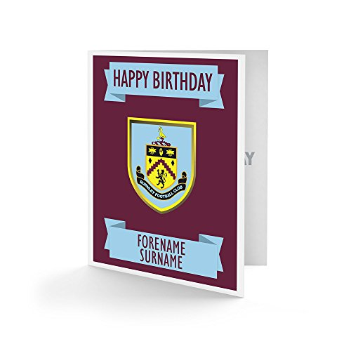 Official Personalised Burnley FC Crest Birthday Card