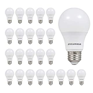 Sylvania Home Lighting 60W Equivalent, LED Light Bulb, A19 Lamp, Efficient 8.5W, Soft White 2700K, 24 Pack (B0758GXHQK) | Amazon price tracker / tracking, Amazon price history charts, Amazon price watches, Amazon price drop alerts
