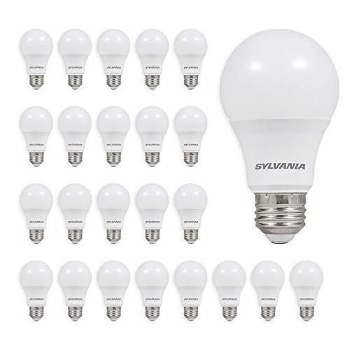 SYLVANIA General Lighting 74766 SYLVANIA 60W Equivalent, LED Light Bulb, A19 Lamp, Efficient 8.5W, Bright White 5000K, Daylight, 24 Count