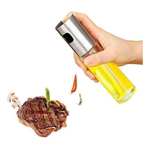 Aceitera y vinagrera Aceite pulverizador dispensador pulverizador Vinagre Dressing pulverización portátil, botella de cristal de aceite de oliva que asa a 100 ml, for la cocina, cocinar, ensalada, pan