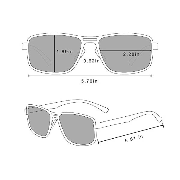 Bircen Mens Classic Square Sunglasses Driving Polarized Sunglasses for Men UV Protection Fishing Sports Men's Sunglasses