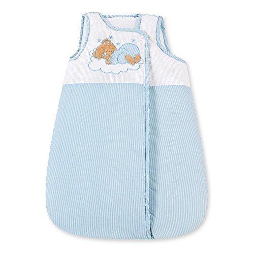 Babyschlafsack Schlafsack Baby Kinderschlafsack Vierjahreszeit 70 cm 100% Baumwolle (Blau)