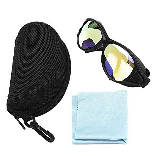 Tasquite Motorradbrille Laserschutzbrille, W / CO2 10600nm OD Professionelle Klarglas-Doppelschicht-Schutzbrille for eine Vielzahl von Lasern