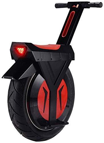 JILIGUALA Elektrische Einrad mit Bluetooth-Lautsprecher 60V / 500W Motorrad Hoverboard EIN Rad Scooter Skateboard Monowheel Elektro-Fahrrad 17' Big Wheel (Größe, 30 km),60KM
