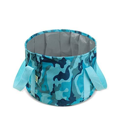 CAO-FU Lavabo Se Pliant, Bassin Pliant Léger Portable Portable Seau Se Pliant Multi Bol Fonctionnel for Outdoor Voyager Camping Randonnée Pêche Plage (Color : Blue)