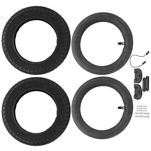 SALUTUYA Cubierta del Tubo Interior del neumático Juego de Aumento de Accesorios Antideslizantes para neumáticos Mejor Capacidad de Cruce, para Scooters de 10 Pulgadas