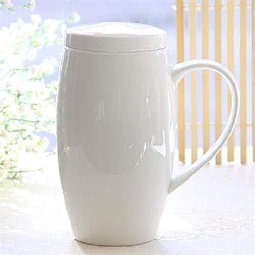 Tazas 720Ml, Taza, Termo De Tapas De Porcelana Blanca Lisa, Taza De Té con Tapa, Jarra De Cerveza, Diseño Divertido del Vientre