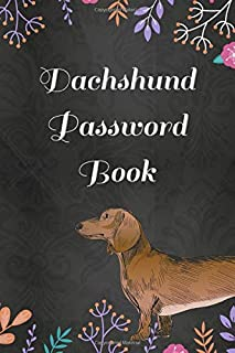 Dachshund Password Book: With Tabs (Large Print) With Funny