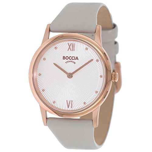 Boccia Damen Digital Quarz Uhr mit Leder Armband 3265-03