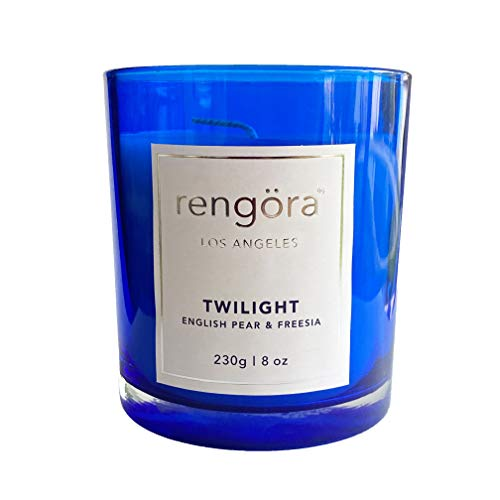 rengöra Candles Gifts for Women - Scented Candle for Home - Long Burning Soy Candle (40+ hrs / 8 oz) (English Pear & Freesia, 230 g)