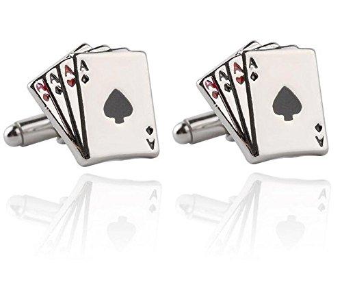 Ynnxia Poker Styling Manchetten Eenvoudige Manchet Links Zakelijke Heren Shirt Accessoires 1 Paar