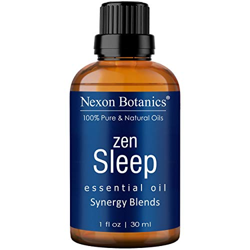 Zen Sleep Essential Oil Blend 30 ml - Relaxing, Calming Sleeping Essential Oils for Sleep - Good Sleep Essential Oil for Diffuser and Aromatherapy - Promotes Sweet Dreams from Nexon Botanics