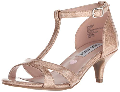 Steve Madden Girl's JPRINCESS Sandal, Blush Glitter, 4 M US Big Kid
