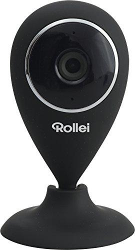Rollei Überwachungskamera Mini WLAN mit Steuerungs App zur Fernüberwachung Nachtsichtfunktion schwarz