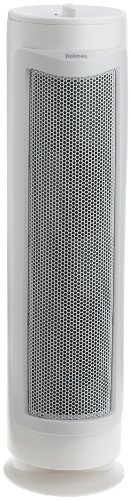 Holmes 3-Speed True HEPA Allergen Remover Air Purifier Tower for Medium Spaces, White, with Optional Ionizer