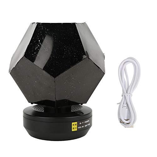 Weiyiroty Estrella Proyector Noche Ligero para Chicas 3 Color Estrellado Cielo Ligero Rotación Proyección Lámpara USB Alimentado Estrellado Noche Proyector para Regalos de San Valentín de Cumpleaños