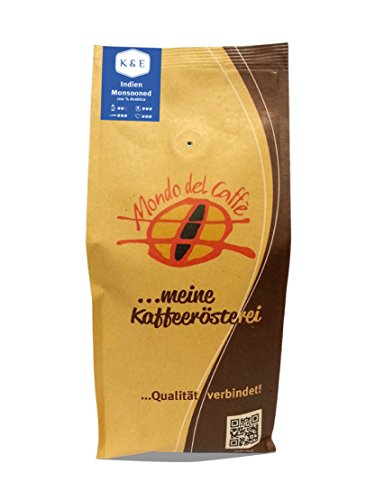 Indien Monsooned Malabar AA (100% Arabica) Spitzenkaffee, ganze Bohne (500 gr.)