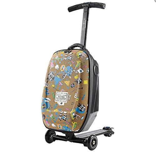 Micro Scooter + Koffer Luggage Steve Aoki
