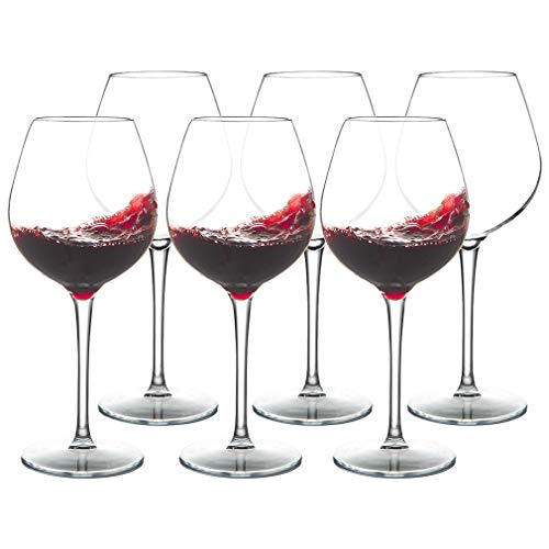 MICHLEY Juego de 6 copas de vino irrompibles, 100% plástico Tritan, irrompibles, para camping y uso diario, 500 ml, aptas para lavavajillas