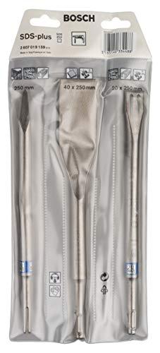Bosch Professional Set de 3 cinceles Long Life SDS plus (para hormigón, accesorios...