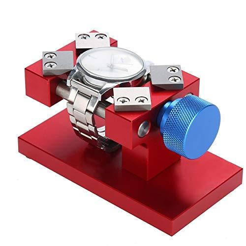 Lantuqib Remoción de Bisel de Reloj, Herramienta de extracción de Bisel de Relojes Útil para joyeros para Mantenimiento de Relojes para Aficionados para reemplazo de batería(Red, 12)