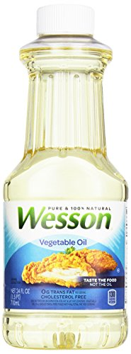 WESSON Pure Vegetable Oil, 0 g Trans Fat, Cholesterol Free, 24 oz.