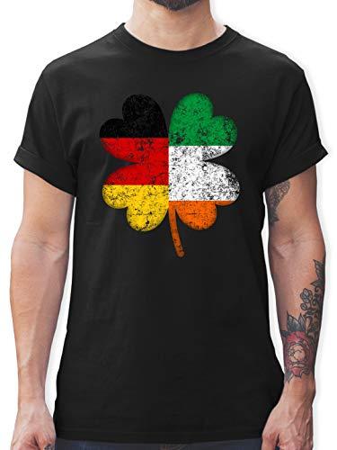 St. Patricks Day - Deutschland Irland Kleeblatt - M - Schwarz - st Patricks Day - L190 - Tshirt Herren und Männer T-Shirts